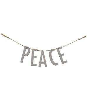 "Picture of ""Peace"" Silver Small Garland"