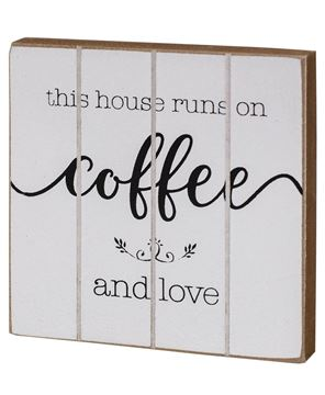 Picture of Coffee and Love Wood Block, 2 Asstd