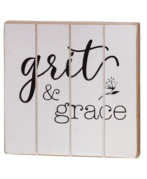 Picture of Grit & Grace Wood Block, 2 Asstd.