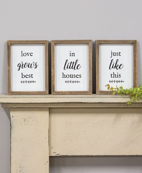 Love grows best in houses sign|Love grows best in houses just like this sign|love grows best Framed Wood Signs|Farmhouse Wall Decor