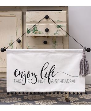 Picture of Enjoy Life Fabric Banner