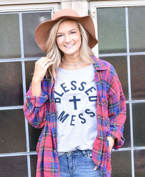 Picture of Blessed Mess Tee