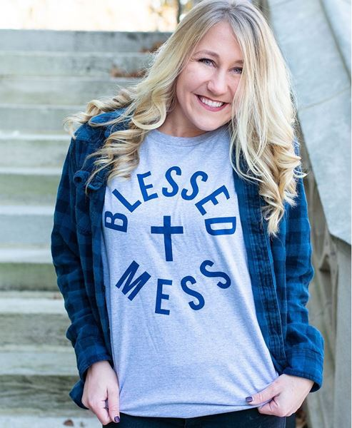 Picture of Blessed Mess Tee - XXL
