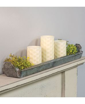 Picture of Galvanized Metal Candle Tray