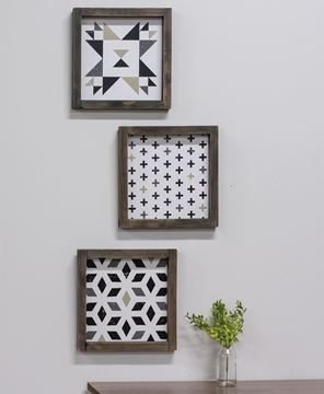 Picture of Geometric Print Signs - 3 Asstd.