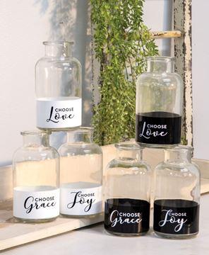 Picture of Choose Joy Glass Bottle, 6 Asstd.