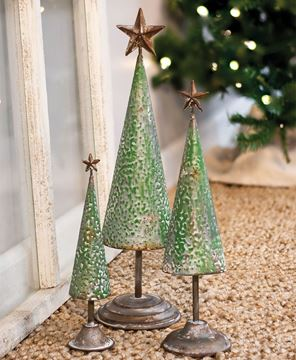 """Picture of Rustic Metal Tree - 10"""""""