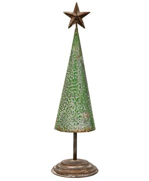 """Picture of Rustic Metal Tree - 17.75"""""""