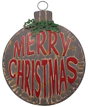 Picture of Merry Christmas Bulb Wall Hanging