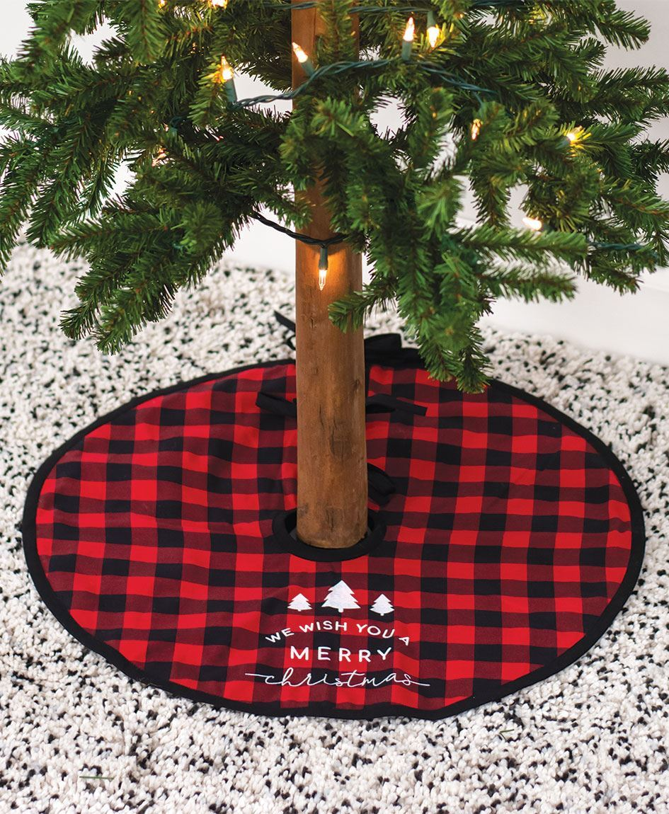 Col House Designs Wholesale Red Buffalo Check Tree Skirt Craft House Designs