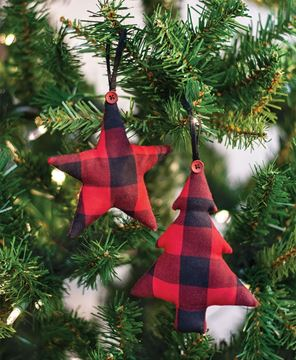 Picture of Red Buffalo Check Fabric Tree Ornament