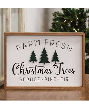 Picture of Farm Fresh Trees Framed Wall Sign