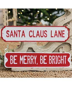 Picture of Santa Claus Lane Street Sign
