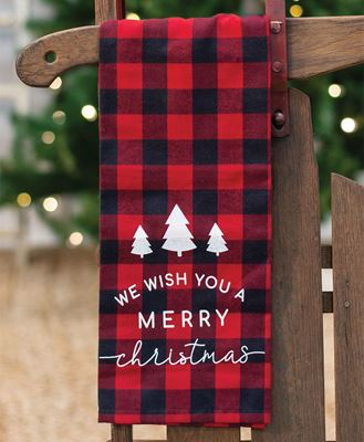 Picture of Red Buffalo Check Merry Christmas Towel