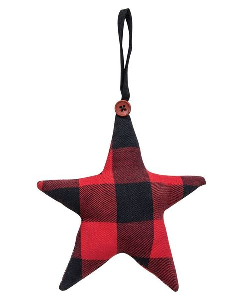Picture of Red Buffalo Check Fabric Star Ornament