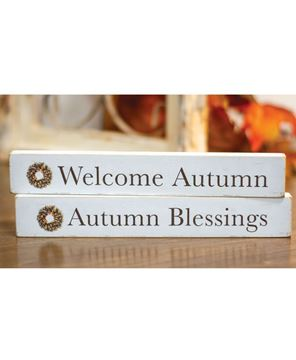 Picture of Autumn Blessings Wood Block, 2 Asstd.