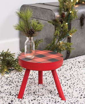 Picture of Red Buffalo Check Stool