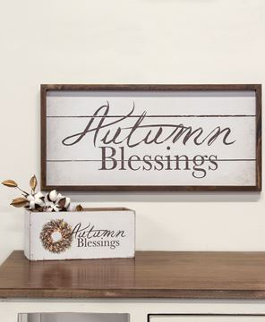 Picture of Autumn Blessings Framed Sign