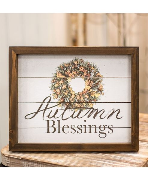 Picture of Autumn Blessings Easel