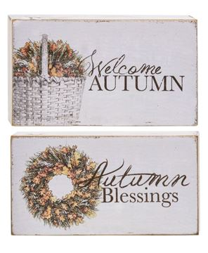 Picture of Welcome Autumn Block, 2 Asstd.
