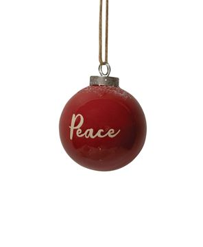 Picture of Red Ceramic Peace Ornament