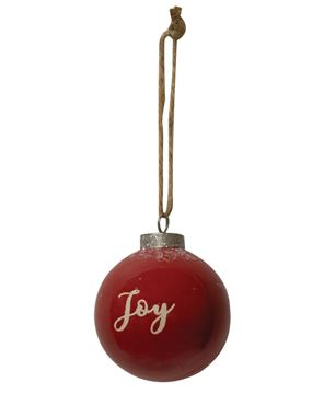 Picture of Red Ceramic Joy Ornament