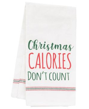 Picture of Christmas Calories Dish Towel