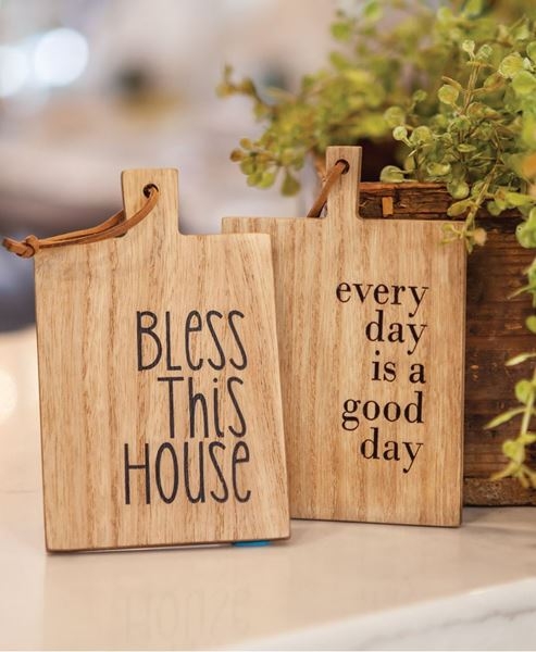 Picture of Bless This House Mini Cutting Board Ornament, 2 Asst.