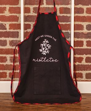 Picture of Under the Mistletoe Buffalo Check Apron