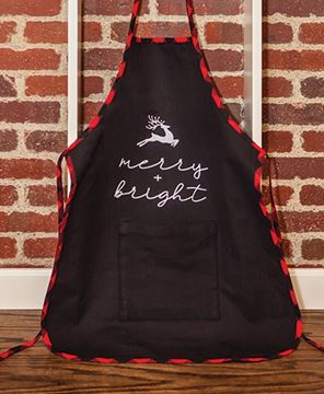 Picture of Merry & Bright Buffalo Check Apron