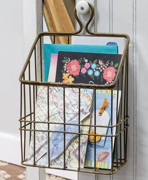 Picture of Rustic Gold Metal Wall Basket