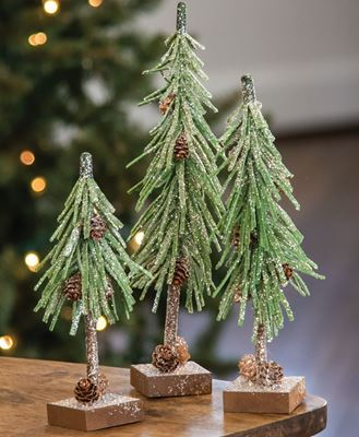 Picture of Glittered Pinecone Tree, 10 inch