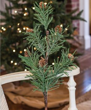 Picture of Glittered Large Pinecone Spray, 21 inch