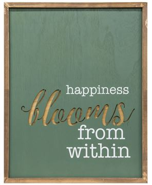 Picture of Happiness Blooms From Within Cutout Wall Art