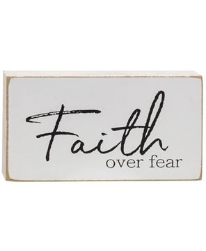 Picture of Faith Over Fear Rectangular Block, 3 asstd.