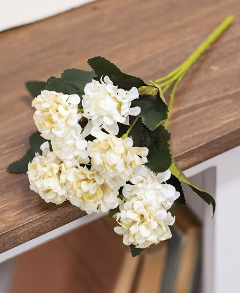Picture of Ivory Petite Hydrangea Pick