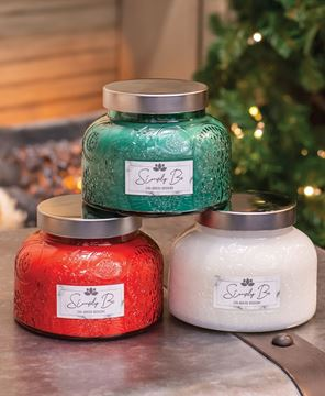 Picture of Holiday Lush Jar Candles, 3/Set