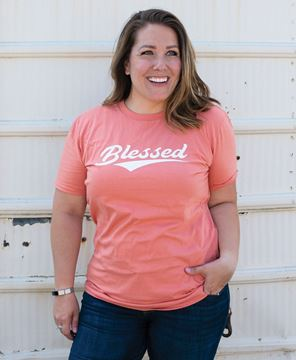 Picture of Blessed Tee - Terracotta