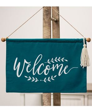 "Picture of Fabric ""Welcome"" Banner"