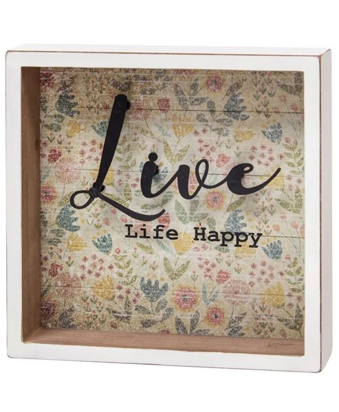 Picture of Live Life Happy Shadow Box Sign