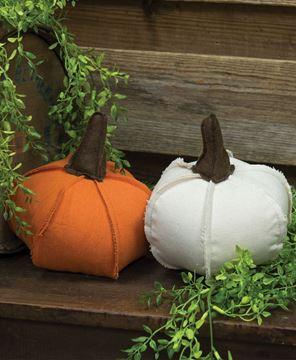 Picture of Fabric Pumpkins, 2/asst.