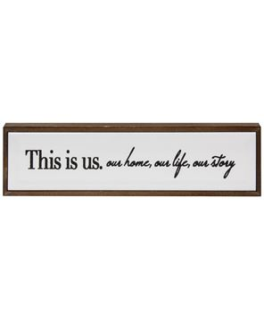 Picture of This Is Us Framed Tile Sign