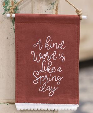 Picture of A Kind Word Fabric Hanging