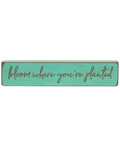 Picture of Bloom Where You're Planted Laser Cut Block