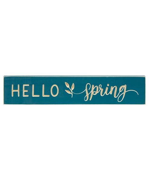 """Picture of Hello Spring Engraved Sign, 18"""""""