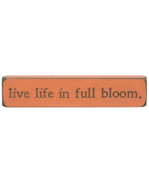 Picture of Live Life In Full Bloom Laser Cut Block