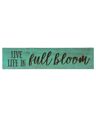 """Picture of Live Life In Full Bloom Engraved Sign, 24"""""""