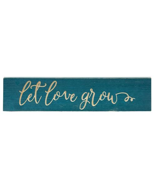 Picture of Let Love Grow Engraved Sign, 24""