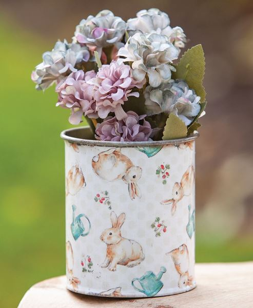 Picture of Vintage Bunny Metal Can