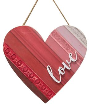 Picture of Love Wooden Heart Hanger